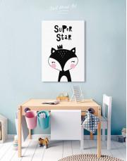 Super Star Fox Nursery Animal Canvas Wall Art - Image 2