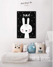 Yeah! Bunny Nursery Animal Canvas Wall Art - Image 4