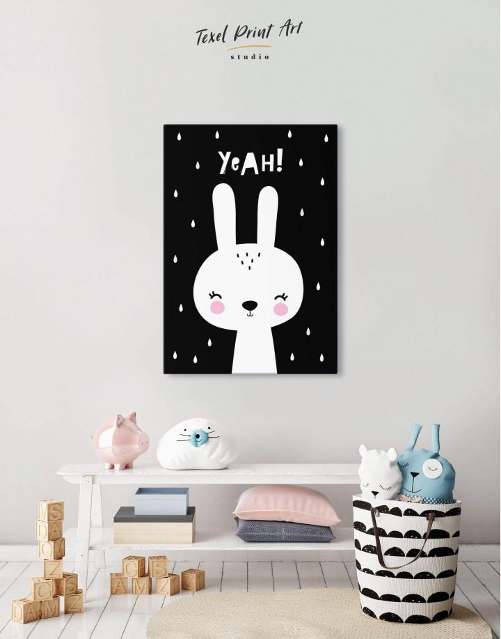 Yeah! Bunny Nursery Animal Canvas Wall Art - Image 6