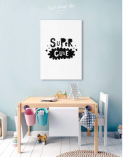 Super Cute Monochrome Nursery Canvas Wall Art - Image 6