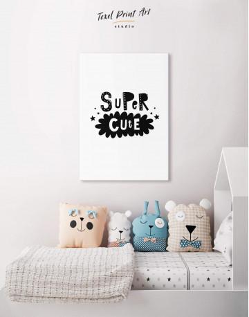 Super Cute Monochrome Nursery Canvas Wall Art - image 4