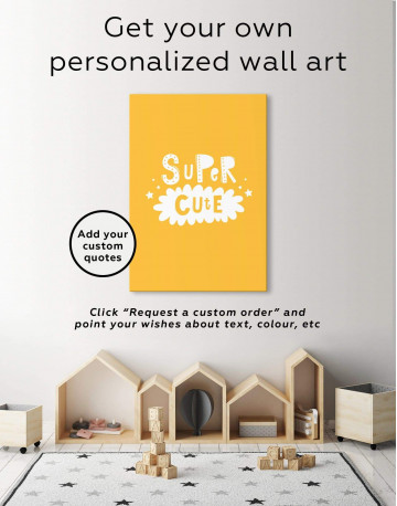Super Cute Monochrome Nursery Canvas Wall Art - image 1