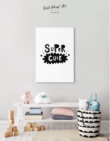 Super Cute Monochrome Nursery Canvas Wall Art