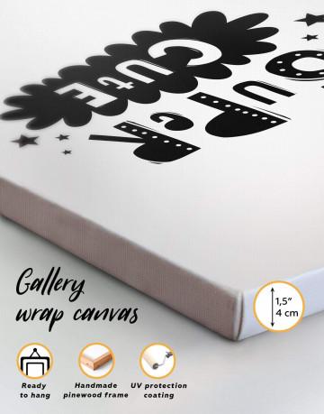Super Cute Monochrome Nursery Canvas Wall Art - image 5