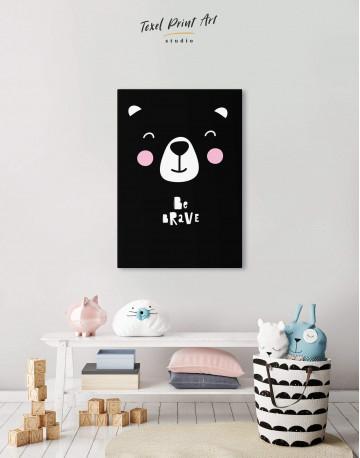 Be Brave Bear Nursery Animal Canvas Wall Art