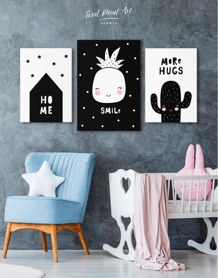 Smile Pineapple Nursery Canvas Wall Art - Image 4