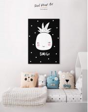 Smile Pineapple Nursery Canvas Wall Art - Image 3