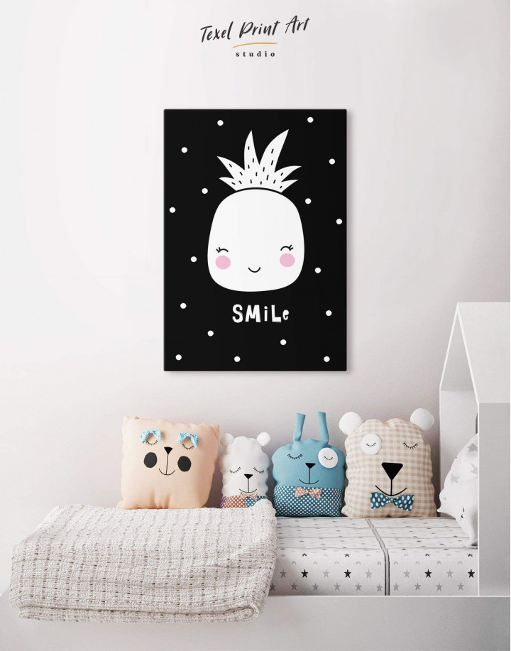 Smile Pineapple Nursery Canvas Wall Art - Image 3