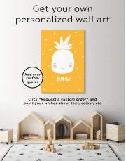 Smile Pineapple Nursery Canvas Wall Art - Image 6