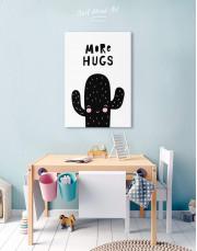 More Hugs Cactus Nursery Canvas Wall Art - Image 5