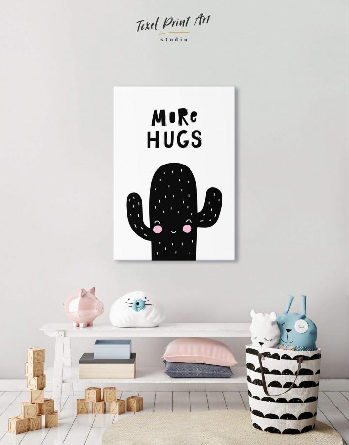 More Hugs Cactus Nursery Canvas Wall Art - Image 0