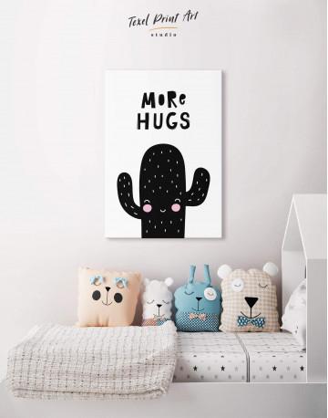 More Hugs Cactus Nursery Canvas Wall Art - image 4