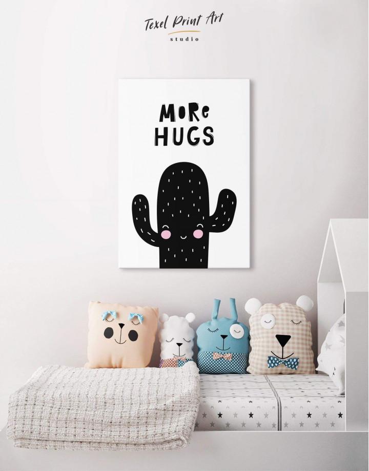 More Hugs Cactus Nursery Canvas Wall Art - Image 3