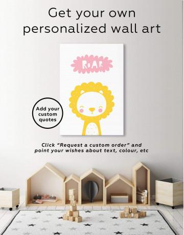 Roar Lion Nursery Animal Canvas Wall Art - image 6