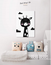 Giraffe Nursery Animal Canvas Wall Art - Image 4
