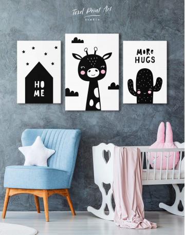 Giraffe Nursery Animal Canvas Wall Art - image 3