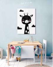 Giraffe Nursery Animal Canvas Wall Art - Image 5