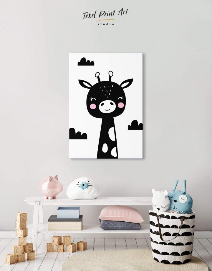 Giraffe Nursery Animal Canvas Wall Art - Image 0