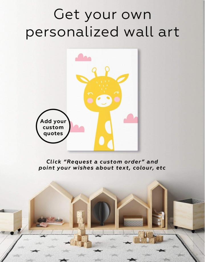 Giraffe Nursery Animal Canvas Wall Art - Image 1