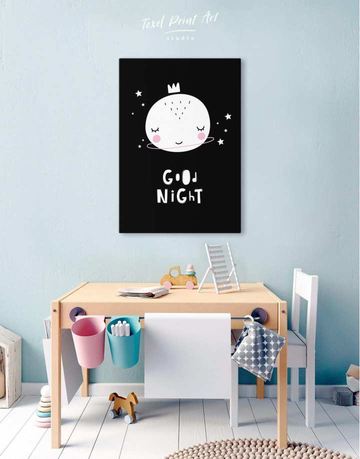 Baby Room Good Night Canvas Wall Art - Image 0
