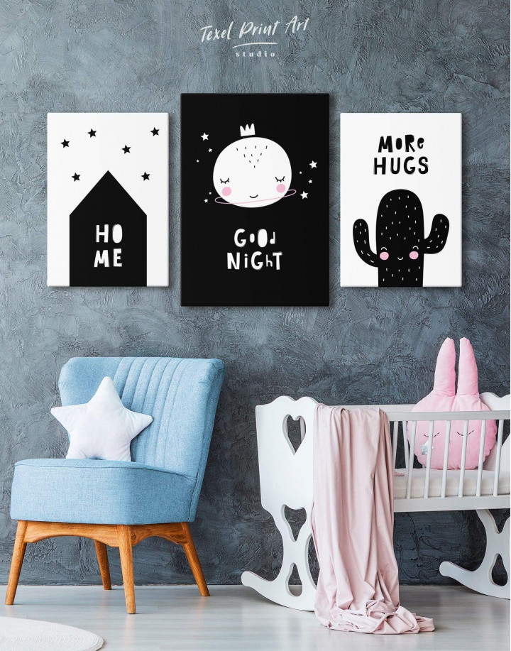 Baby Room Good Night Canvas Wall Art - Image 3