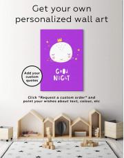 Baby Room Good Night Canvas Wall Art - Image 1
