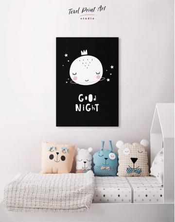 Baby Room Good Night Canvas Wall Art - image 4