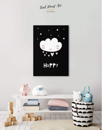 Happy Modern Nursery Canvas Wall Art - image 5