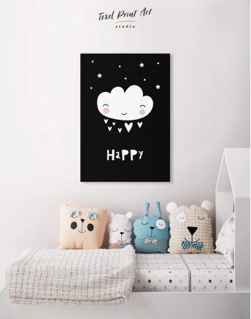 Happy Modern Nursery Canvas Wall Art - image 4