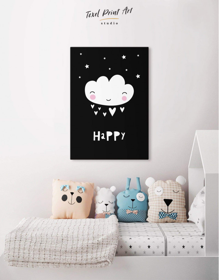 Happy Modern Nursery Canvas Wall Art - Image 4