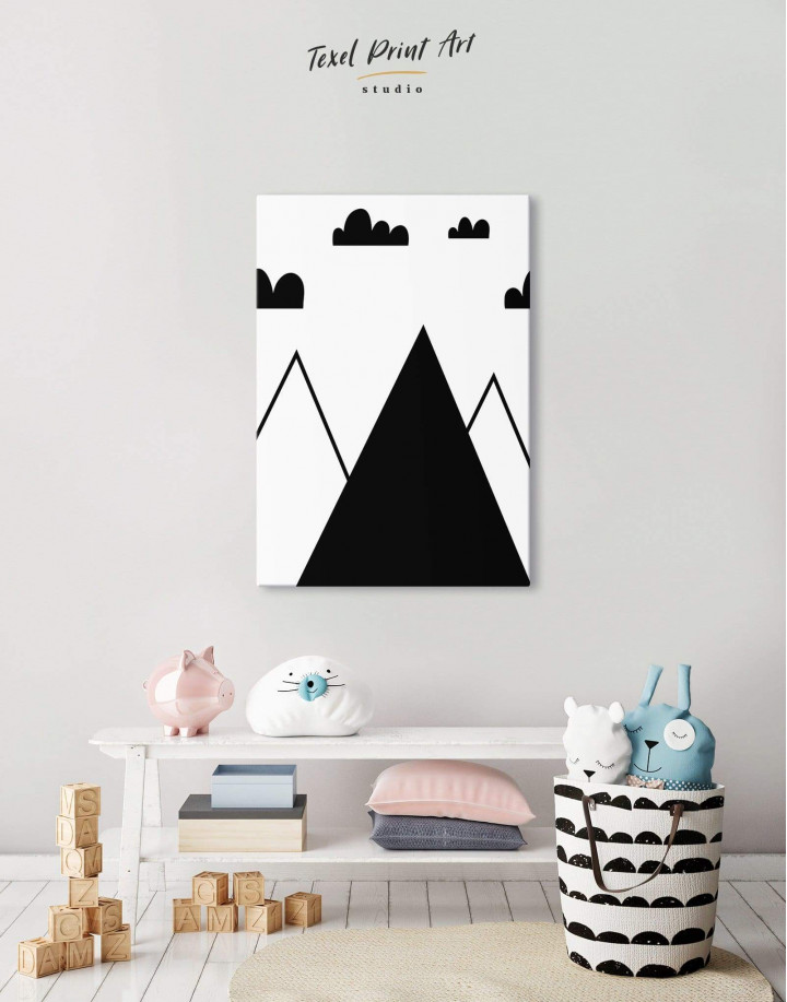 Mountain Nursery Canvas Wall Art - Image 2