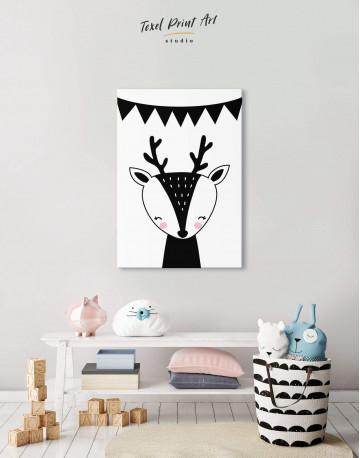 Deer Nursery Animal Canvas Wall Art - image 5