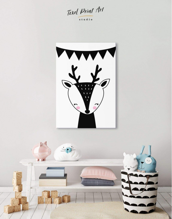 Deer Nursery Animal Canvas Wall Art - Image 5