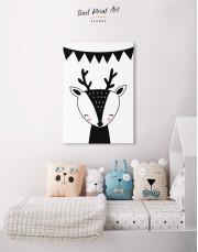 Deer Nursery Animal Canvas Wall Art - Image 4