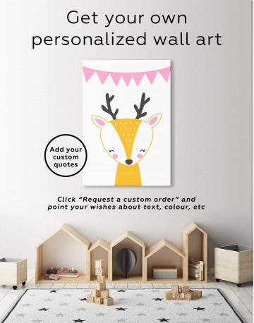 Deer Nursery Animal Canvas Wall Art - image 1