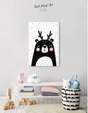 Black Bear Nursery Animal Canvas Wall Art - Image 2