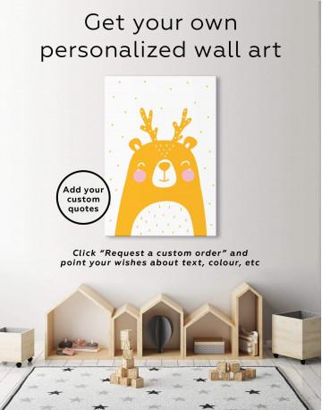 Black Bear Nursery Animal Canvas Wall Art - image 6