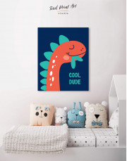 Cool Dude Kids Dinosaur Canvas Wall Art - Image 4
