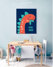 Cool Dude Kids Dinosaur Canvas Wall Art