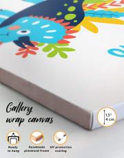 Cute Dino Nursery Canvas Wall Art - Image 6
