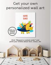 Cute Dino Nursery Canvas Wall Art - Image 1