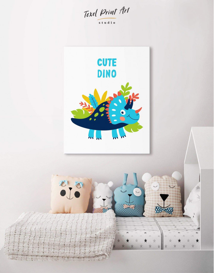Cute Dino Nursery Canvas Wall Art - Image 4