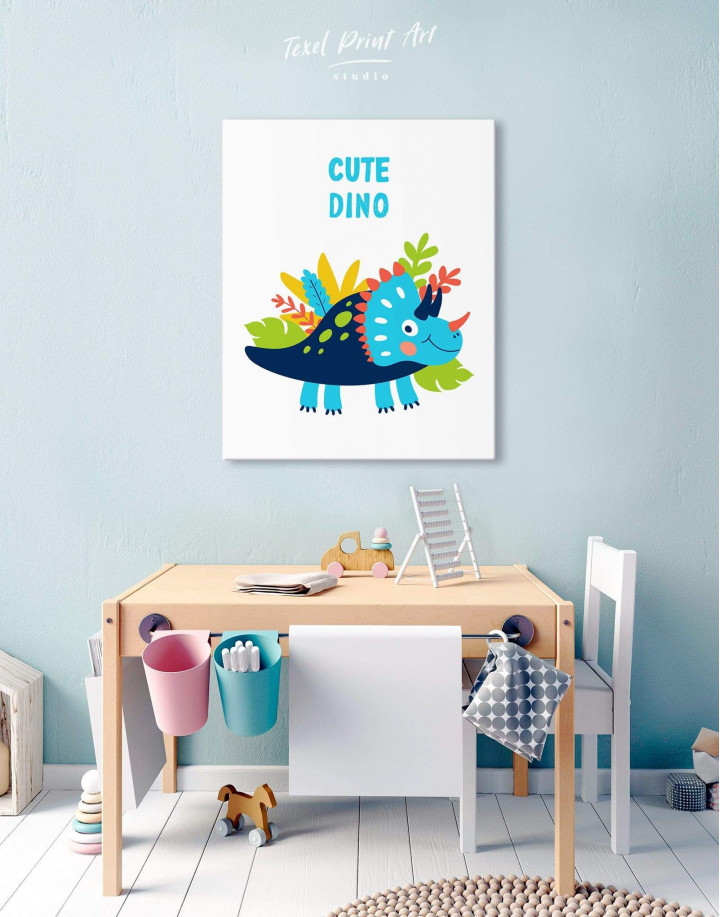 Cute Dino Nursery Canvas Wall Art - Image 5