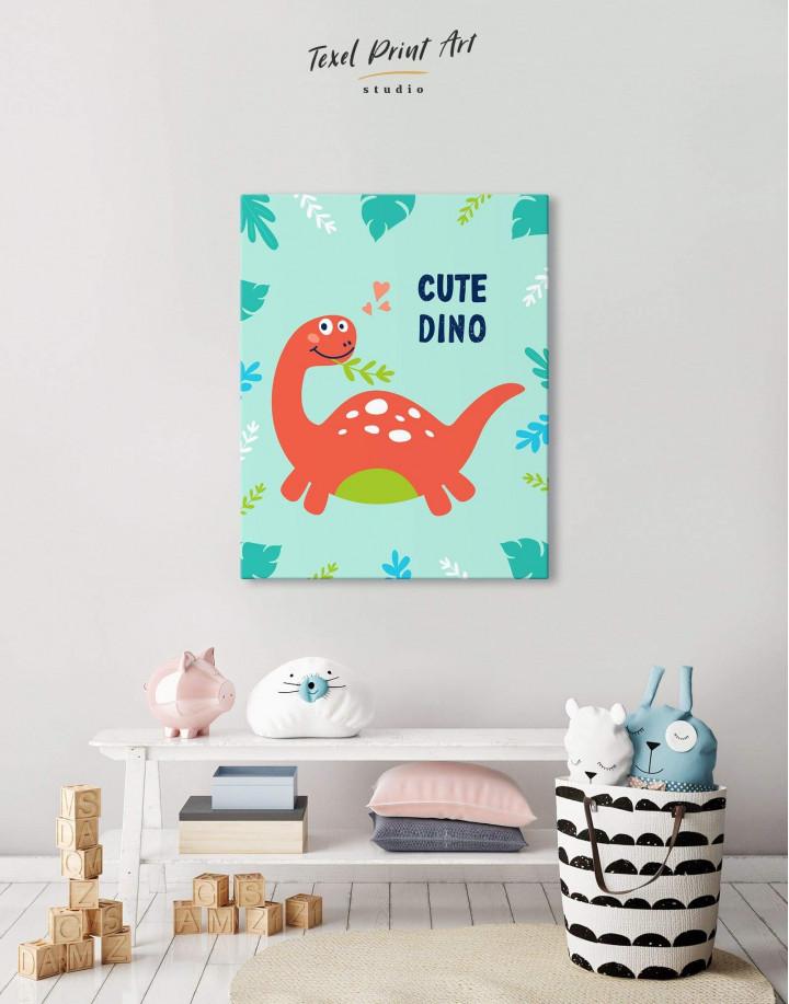 Cute Dinosaur Nursery Canvas Wall Art - Image 2