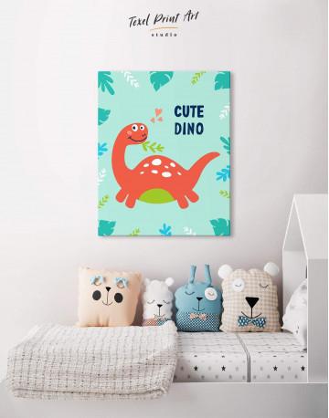 Cute Dinosaur Nursery Canvas Wall Art - image 3