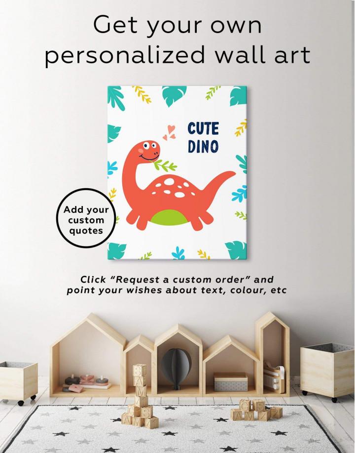 Cute Dinosaur Nursery Canvas Wall Art - Image 6