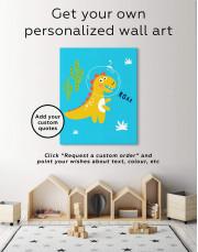Roar Dino Nursery Canvas Wall Art - Image 1