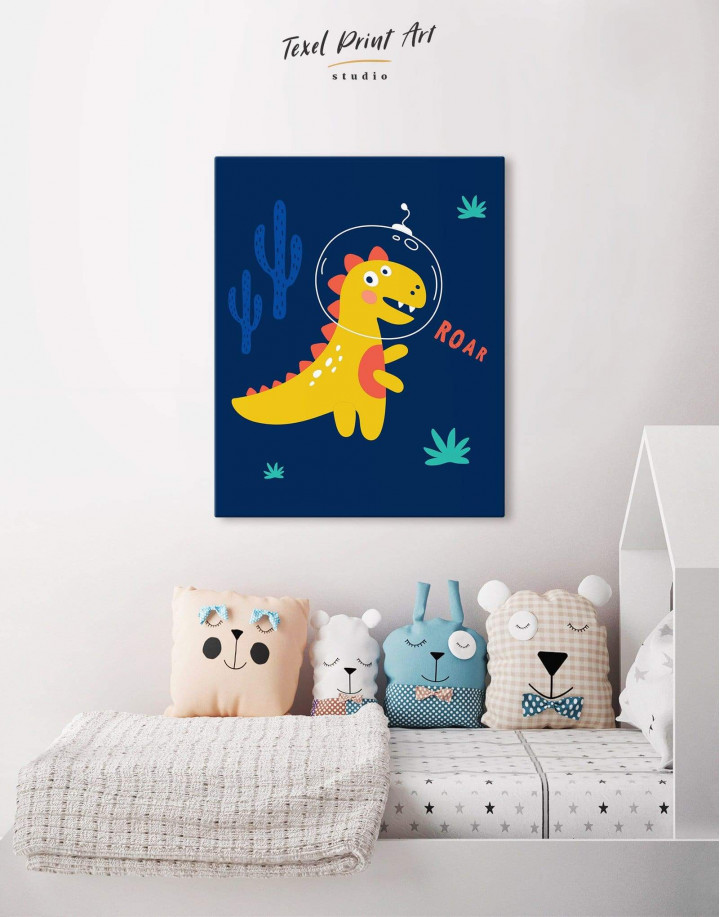 Roar Dino Nursery Canvas Wall Art - Image 4