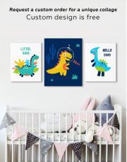 Roar Dino Nursery Canvas Wall Art - Image 2