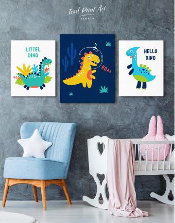 Roar Dino Nursery Canvas Wall Art - image 3